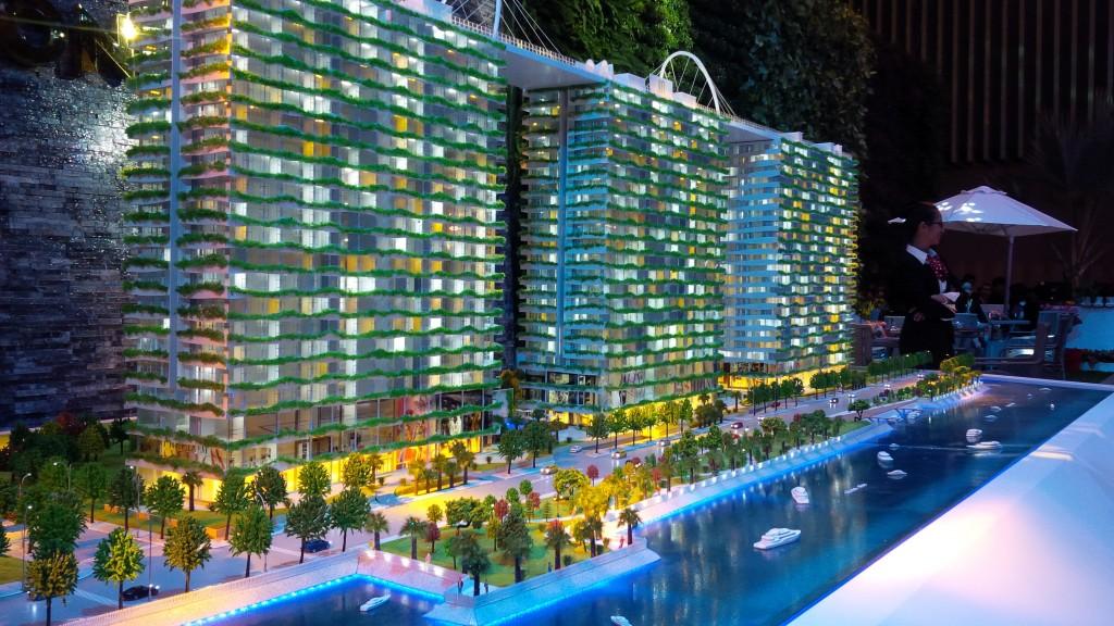 Mô hình dự án Diamond Lotus về đêm