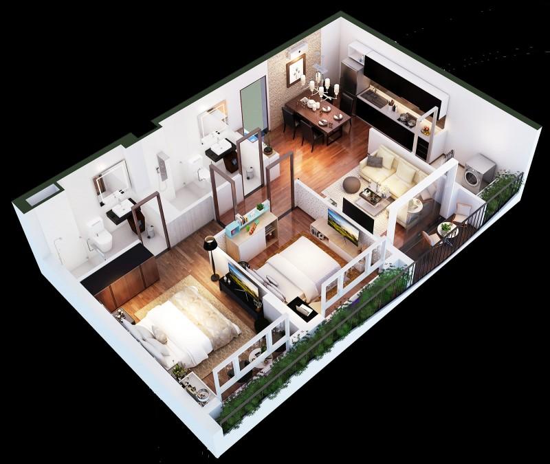 Thiết kế căn Suite của căn hộ Diamond Lotus