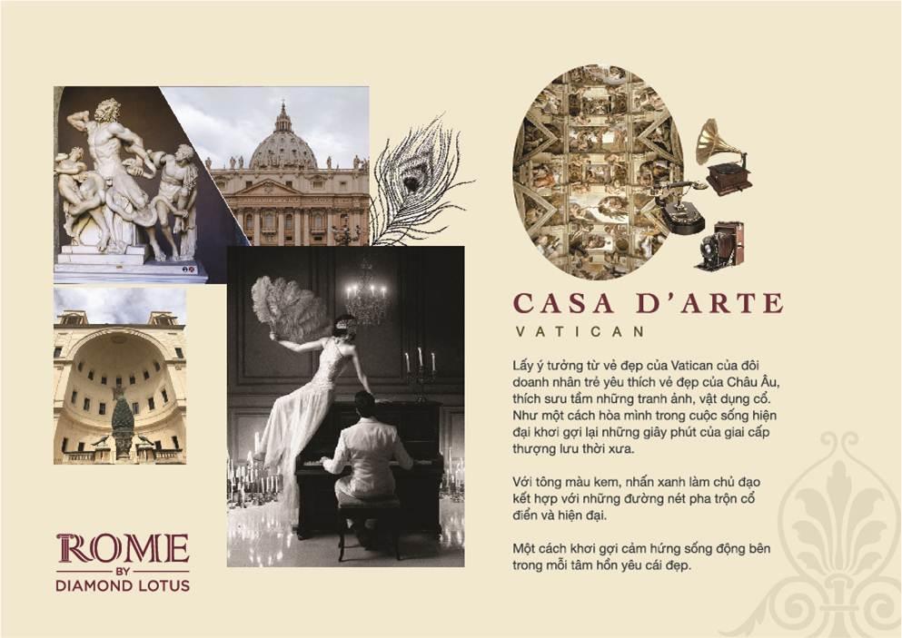 phong cach thiet ke can 2 pn can ho Rome Diamond lotus